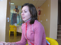 Nastia, a worker with the ministry