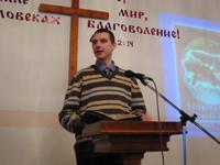 Pavel Tokarchuk, preaching Christmas day.
