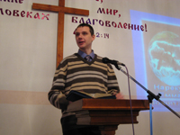 Pavel Tokarchuk, preaching Christmas day.