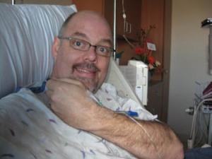 Greg in Hospital