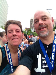 Laura and Greg finish Fifth Third 25k