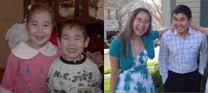 Katie and Matt Olsen before and now.